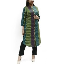 Womens Printed Round Cut Kurta