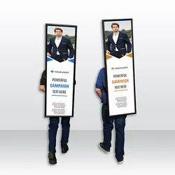 Aluminium Black Look Walkers, For Outdoor Advertising-Promotion, Shape: Rectangular