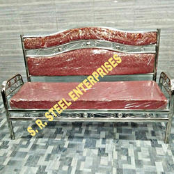Maroon Stainless Steel Sofa
