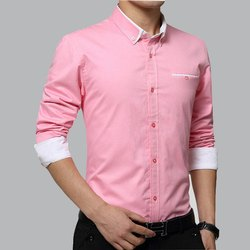 Regular Wear Pink Color Formal Shirt