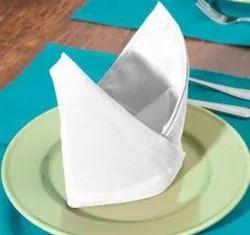 Plain White Cotton Table Napkin, For Restaurant, Banquet Linen