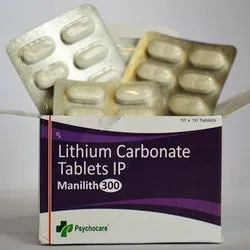 Lithium Carbonate 300mg Tablets (MANILITH 300)