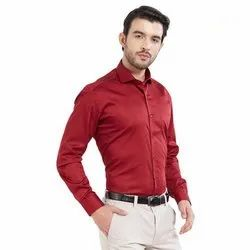 Mens Casual Plain Shirt, Size: M-XXL