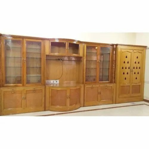 Double Door Wood Tv Cupboard With Pooja Shelf For Home Rs 750 Square Feet Id 21877934212