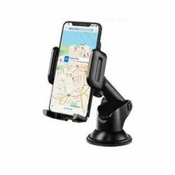 Plastic Black ST 505 Caption Mobile Holder, For Car