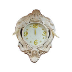 White Fancy Wall Clock, Size: 9x10 Inches