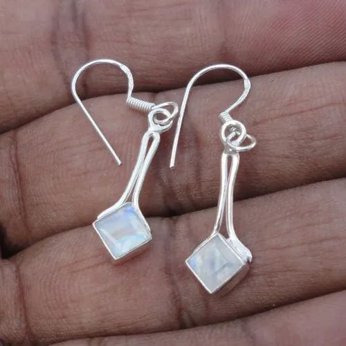 Rainbow Moonstone Gemstone Earrings