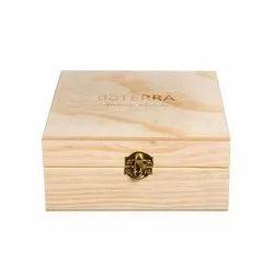 Vintage Antiqued Wooden Box Indian Tea Chest Crate