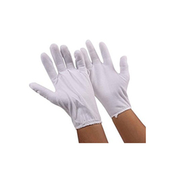 White Hosiery Gloves