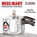 Silver Aluminium 2.5 Litres Hawkins Miss Mary Aluminum Pressure Cooker