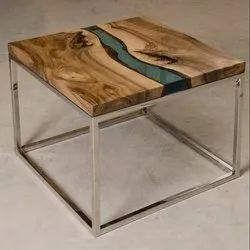 Brown, Natural Modern, Modren Epoxy Resin Coffee Table, for Home