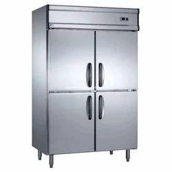 Four Door Grey Commercial Refrigerator
