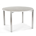 Ach Metal Round Dining Table, For Restaurant