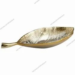 Metal Gold Leaf Platter