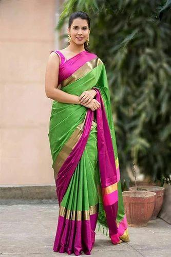 f302573e18 Cotton Silk Saree at Rs 350 /piece | रेशमी सूती साड़ी ...