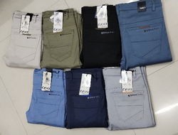 Knitting Fabric Trouser Ankle Length '41' With 'L' Pocket