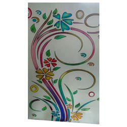 36 X 60 Inch Colored Designer Glass, Shape: Rectangle