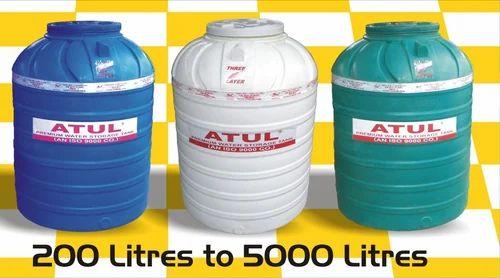 Plastic Water Tank Capacity 200 5000 L Atul Pumps Pvt Ltd Id 7335354748