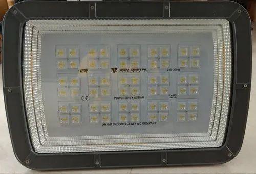 Aluminum Pure White 300W LED Flood Light - ERIS, IP Rating: IP65