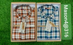 Mens Full Sleeves Check Cotton Shirt