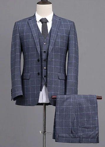 Gray 5 Piece Check Pant Coat Suit At Rs 14999 Set Jalandhar Id