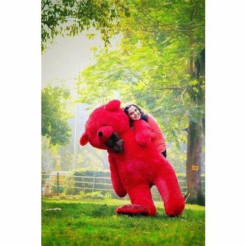 Red Teddy Bear 5 Feet, Red 5 Feet Neck Bow Soft Teddy Bear Rs 1200 Piece Sai Enterprises Id 19415497633