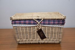 Handmade Cane basket Box Useful for Counter-Top Storage,picnic and Other Similar Purposes