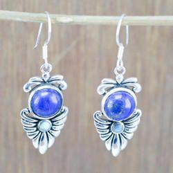 925 Sterling Silver Jewelry Lapis Lazuli Gemstone New Earring We-5387