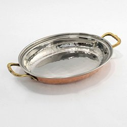 Oval Serving Copper Dish