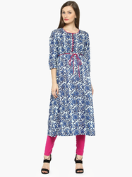 Fashionble Cotton Printed A-Line  Kurti