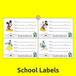 School Label Stickers