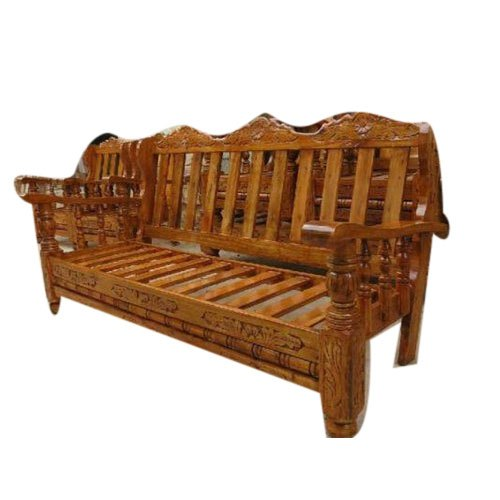 Wooden Sofa - Simple 3 Seater Wooden Sofa Manufacturer from ...