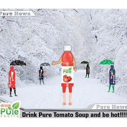 Drink Pure Fruits Healthy Tomato Juice, 200 Ml, Packaging Type: Bottle