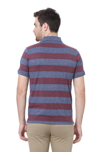 10f708d8141 Half Sleeve Polo Neck PKP51707803 Peter England Maroon T Shirt