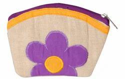 Jute Handcrafted Women's Wallet Purple SAN0102