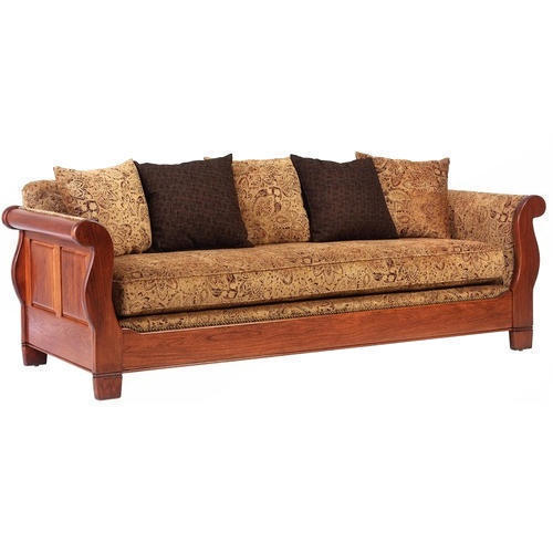 Wooden And Leather 3 Seater Sofa Set, Rs 15000 /piece, Vishwakarma ...