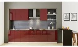 PVC Straight Modular Kitchen