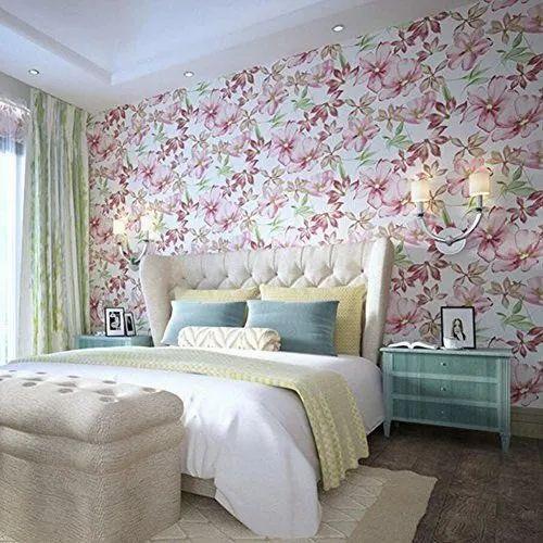 Bedroom Printed Wallpaper