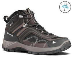 Quechua MH100 Brown and Black Mens Hiking Shoes