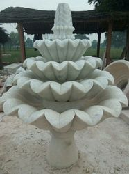Stone Lotus Fountain