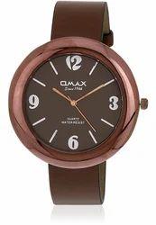 Omax Analog Women Brown Dial Brown Strap Watch For Women