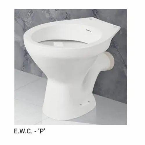 White Ceramic European P Water Closet