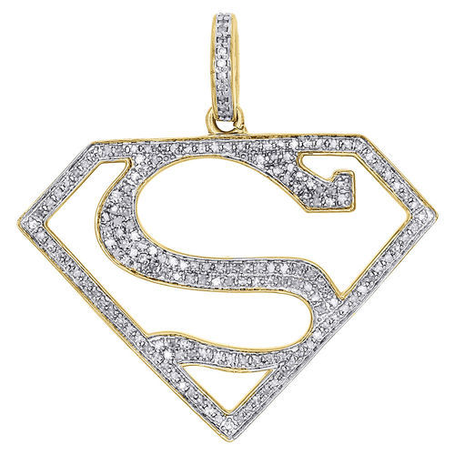 925 Sterling Silver Gold Plated Superman Diamond Pendant At Rs 9500