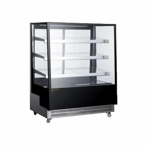 Stainless Steel Square Display Counter, Warranty: 1 Year