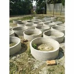 Round Precast Concrete Well Ring Manhole Cover