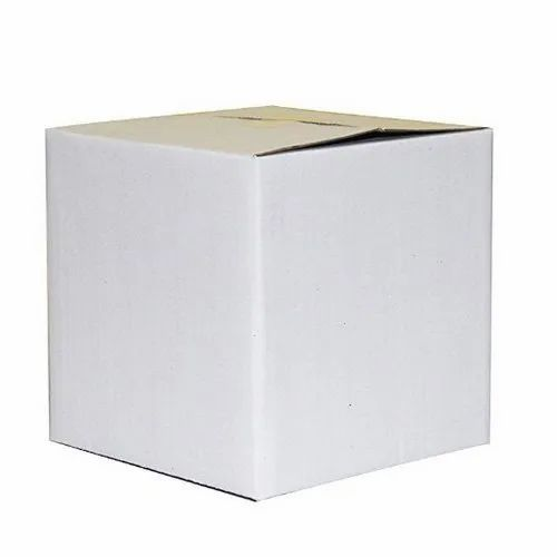 3 Ply White Packaging Corrugated Box 12 x 12  x 4.5 Inch
