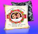 Digital Print Velvet Personalized Cushions, Size: 15/15 Inches
