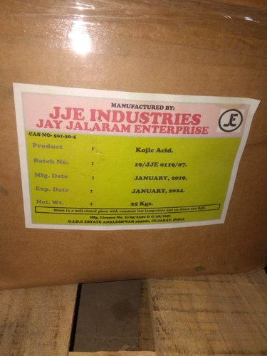 Powder Kojic Acid for Commerical, Packaging Size: 5
