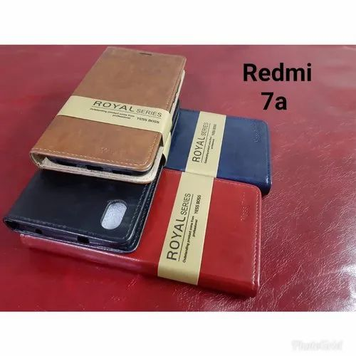 Leather Redmi 7a Mobile Flip Cover, Size: 5.5 Inch, For Mobile Protection