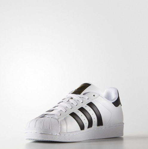 Adidas Men' s Superstar White Black Gold Shoes